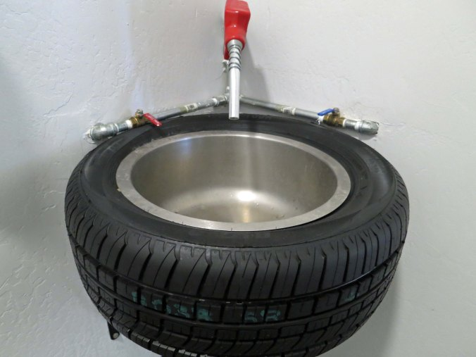 We were quite amused by the sink in the Big O Tire restroom.