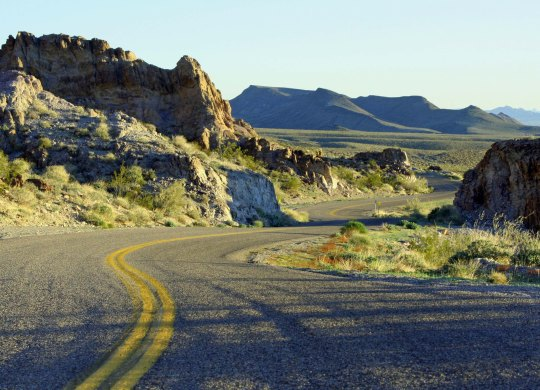 While historic Route 66 travels through six states and numerous climate zones, I always think of it as being in the desert, a prejudice I developed from reading my grandfather's Arizona Highways as a child.