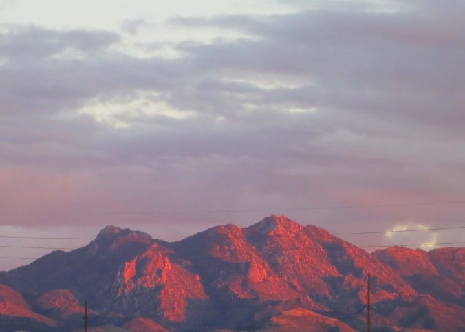 A beautiful desert sunset as seen from Route 66 in Kingman.
