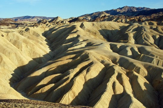 Zabriskie Point is a short distance from Furnace Creek. I biked right by it on may way out. (Photo by Peggy Mekemson.)