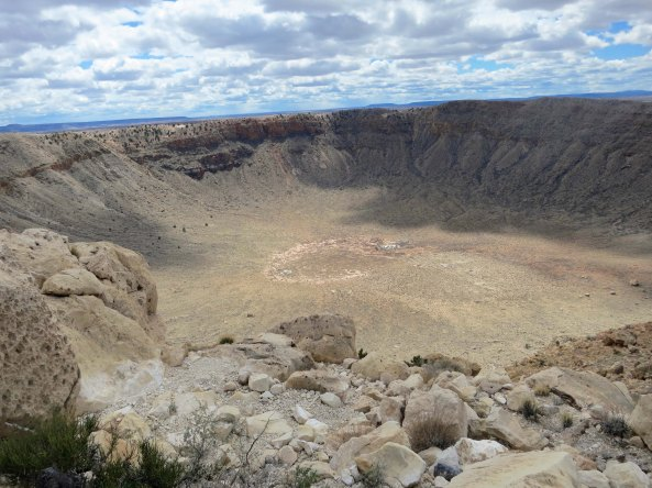 I missed seeing the Arizona meteor Crater on my bike trip so Peggy and I stopped by there a few weeks ago as I retrace my route. It is a very impressive hole in the ground.