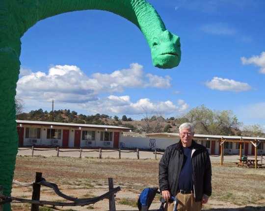 The campground/motel and caverns also featured dinosaurs. (Photo by Peggy Mekemson.)