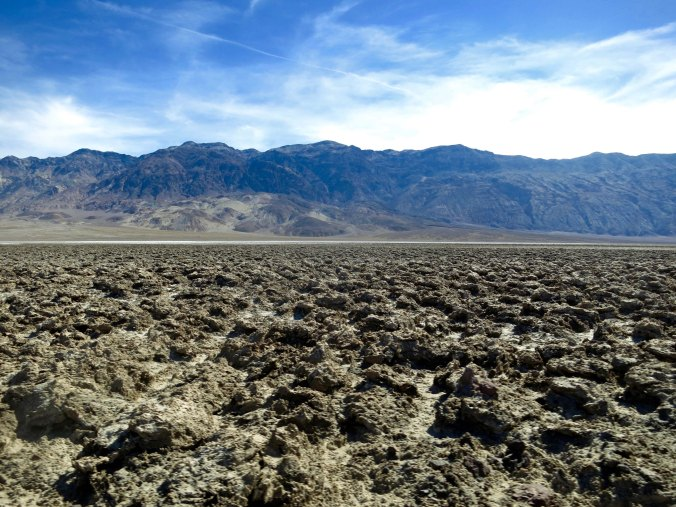 Devil's Golf Course is on the way to Bad Water. The Panamint Mountains are in the background.