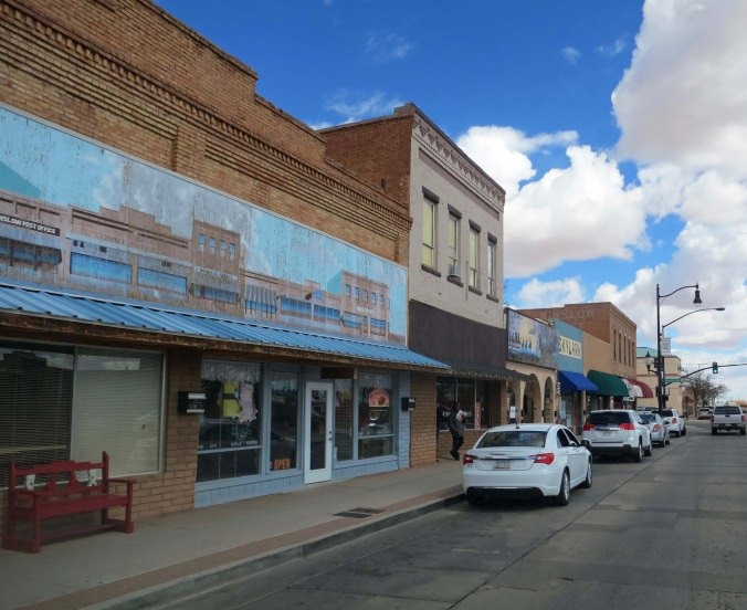 Downtown Winslow as it looks today, pretty much as it looked in 1989 and 1949.