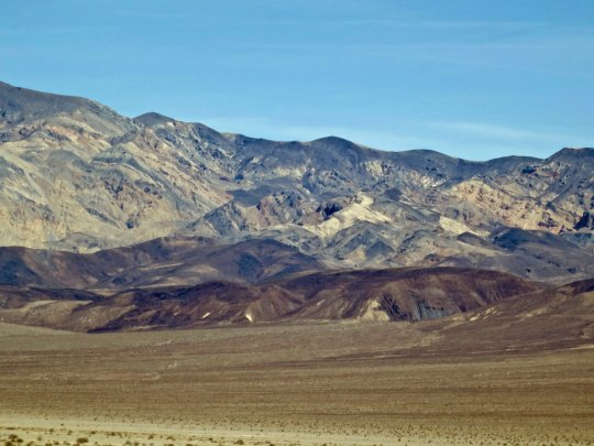 Looking up at the Panamint Range, the mountains I had to bicycle over.