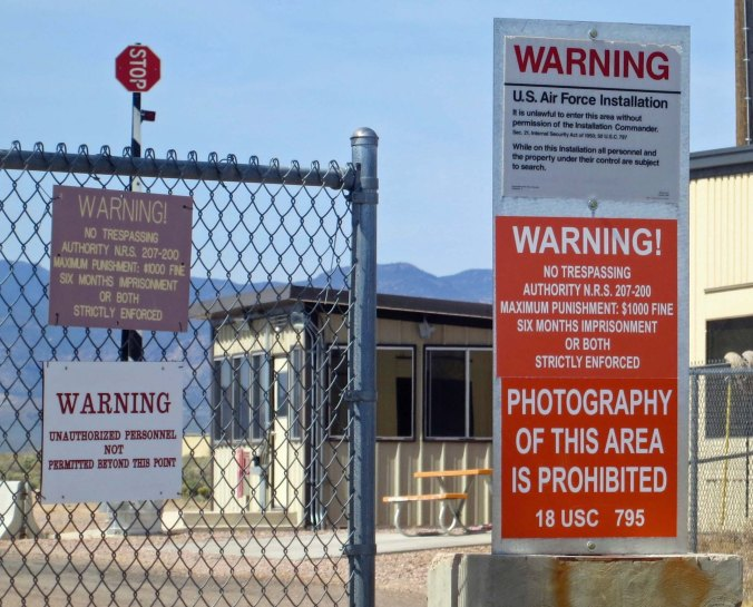 Area 51 in the Nevada Desert.