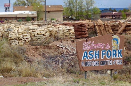 Fortunately it wasn't far. I came to Ash Fork just up the road, which is quite proud of its association with flagstone.
