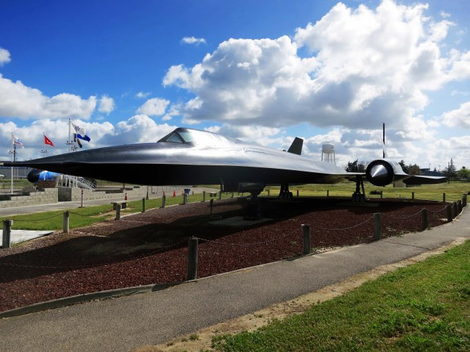 This Lockheed SR-71 Blackbird is on display at the Castle Air Museum near Merced in California. It could fly over Mach 3.3 or 2,350 miles per hour