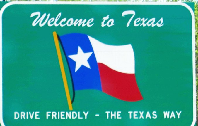 Every state greets you with a welcome sign.