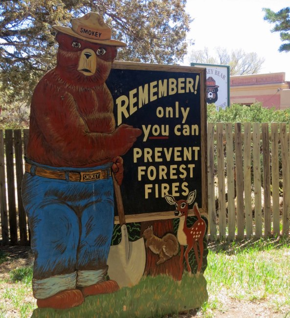 Smokey as an adult. This sign is located at his memorial.