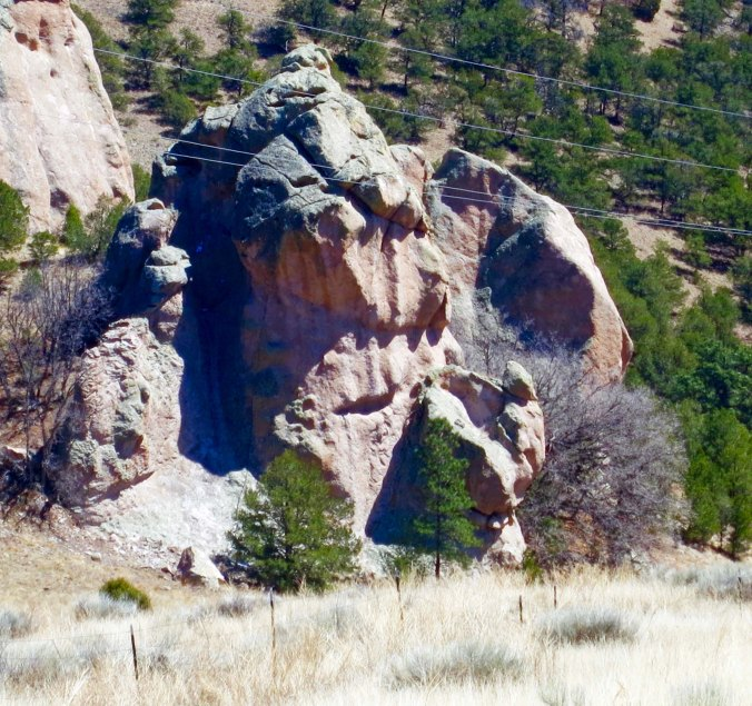 15 Rock Face on New Mexico Highway 60