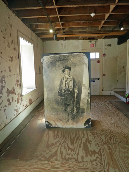 This is a copy of the only known photo of Billy the Kid. It's found in what was once Murphy and Dolan's dry goods store and headquarters in Lincoln, NM. Later it would become Sheriff Pat Garret's Office. Billy would escape from here by killing two deputy sheriffs.