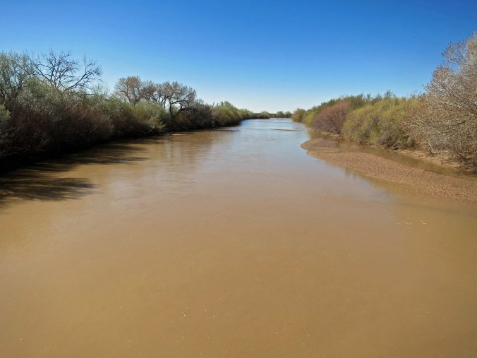 The Rio Grande looking south from the bridge.