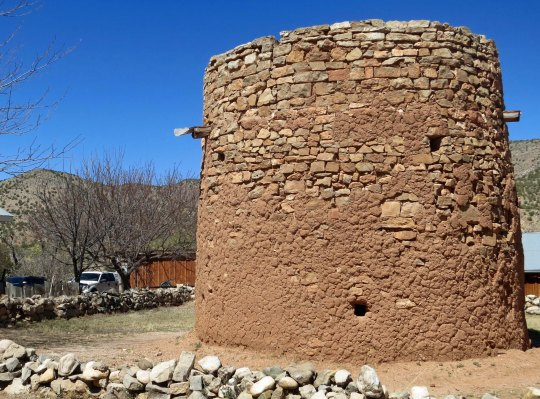 Murphy's sharpshooters used this tower in the Lincoln County War. It was originally used for protection against marauding Apaches.