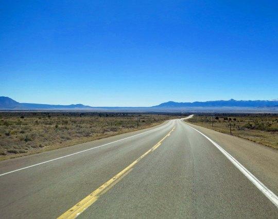 Crossing the desert toward Carrizozo heading east.
