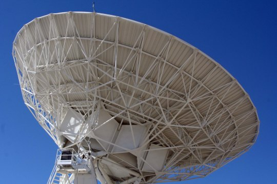 The dish is 82 feet in diameter.
