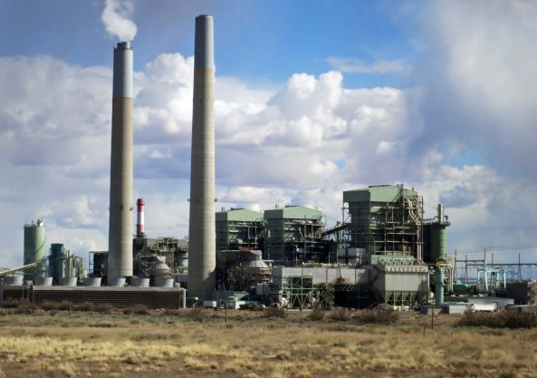 The Cholla coal fired energy plant located between Winslow and Holbrook Arizona just off Interstate 40.