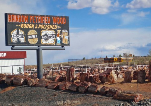 One of several places in Holbrook Arizona that sells petrified wood.
