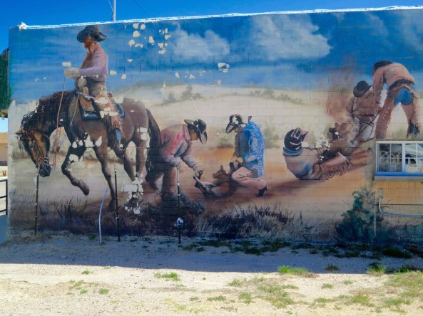 For my final photo of the day, this mural adorned the side of a business in Tatum. The spirit of the Old West lives on.