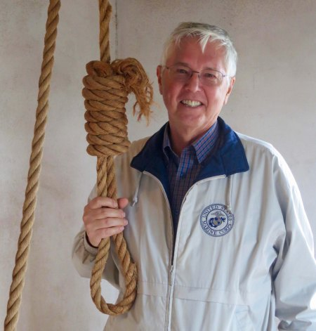 John, always up for a little gallows humor, modeled for me. He refused to put the noose over his head, however.