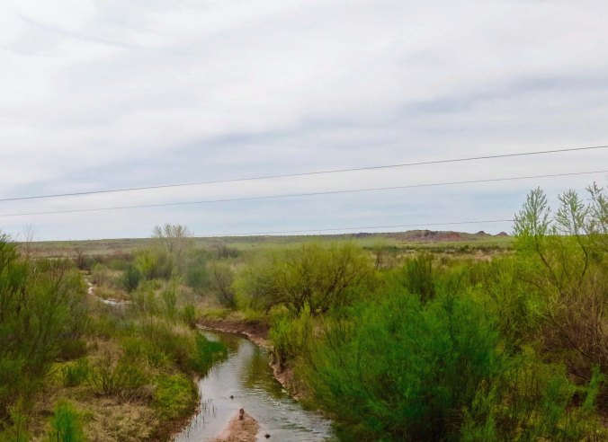 A number of tributaries feed into the Brazos River in West Texas. Eventually the river flows into the Gulf of Mexico south of Huston.