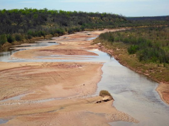 The Brazos River near Aspermont Texas.