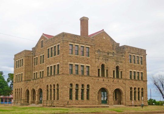 Restored Courthouse in Archer City, Texas.