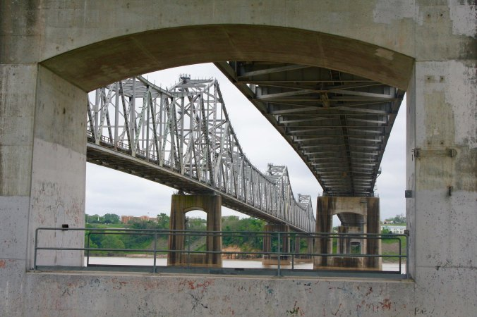 A view of the Natchez-Vidalia Bridge.