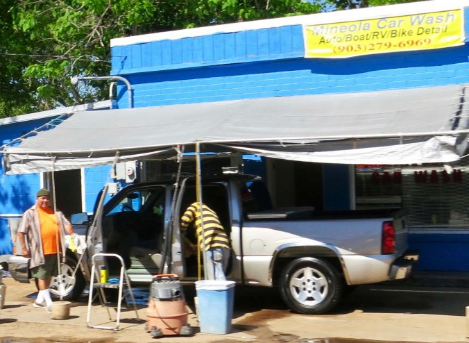 A car and RV wash in Mineola. They didn't do bikes.