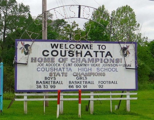 Coushatta, like its Texas cousins featured its his school and sports heroes.