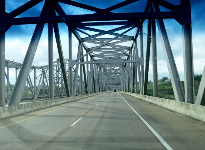 On our way into Natchez, Mississippi and the beginning of the Natchez Trace, which will be the subject of my next blog.