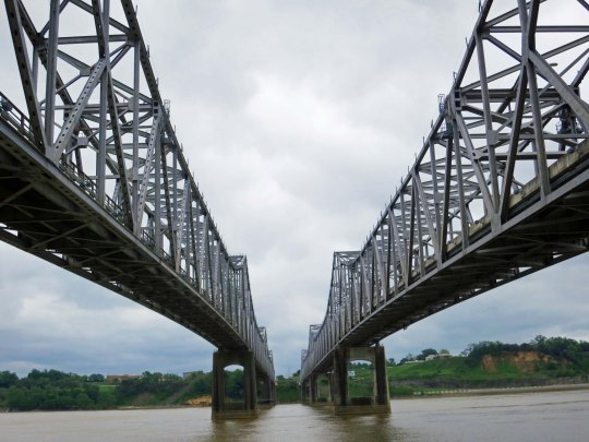 The Natchez-Vidalia Bridge across the Mississippi River.
