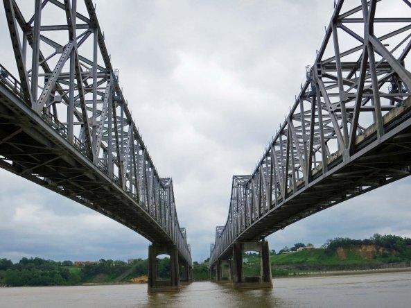 The Natchez-Vidalia Bridge across the Mississippi River.