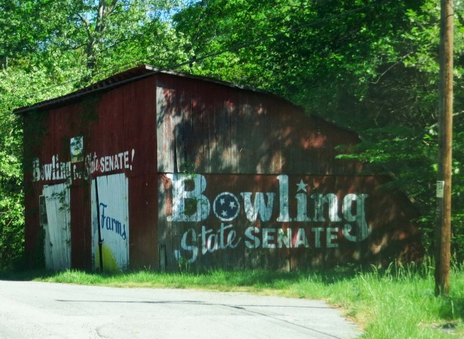 Although this was from a recent election, I found it interesting. Long before billboards lined the highways of America, advertising was done on old barns.