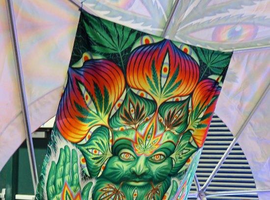 Cannabis art found at the Cannabis Fair in Jackson County, Oregon.