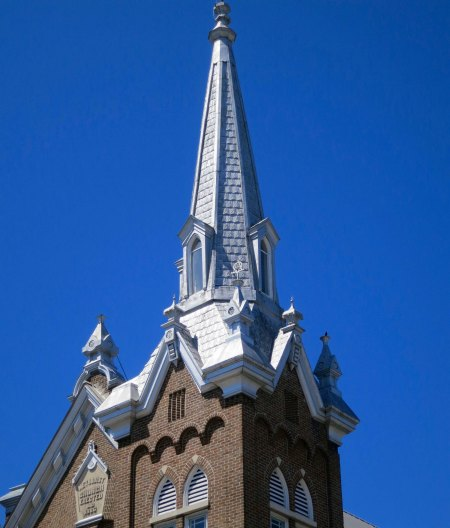 Steeple of Methodist Church found in McMinnville, Tennessee.