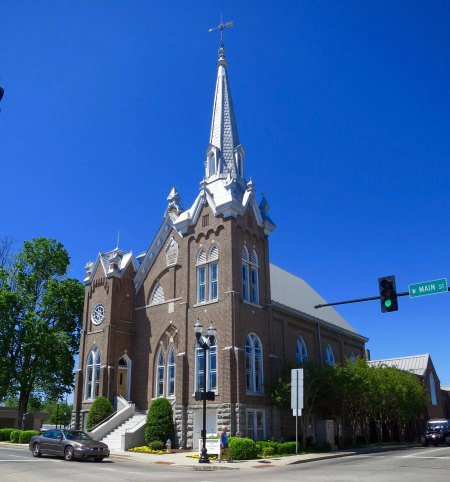 McMinnville is an attractive town which includes, among other things, this striking Methodist Church built in the 1800s.