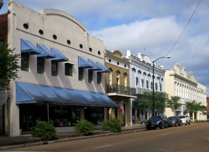 Downtown Natchez, Mississippi.