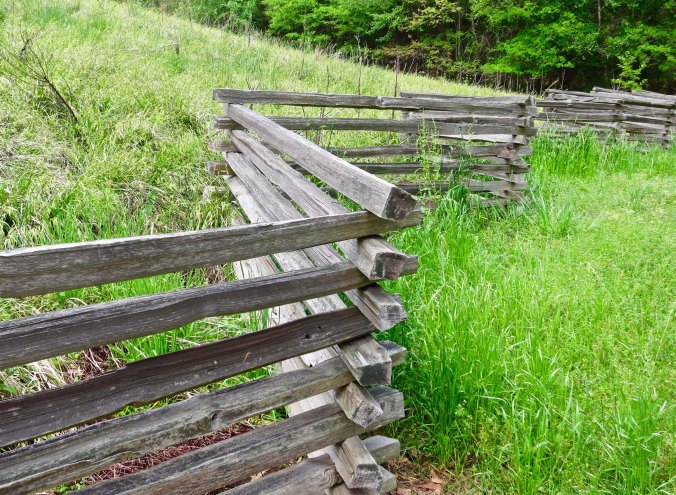 The Park has also rebuilt traditional fences that the pioneers who lived along the Trace would have built.