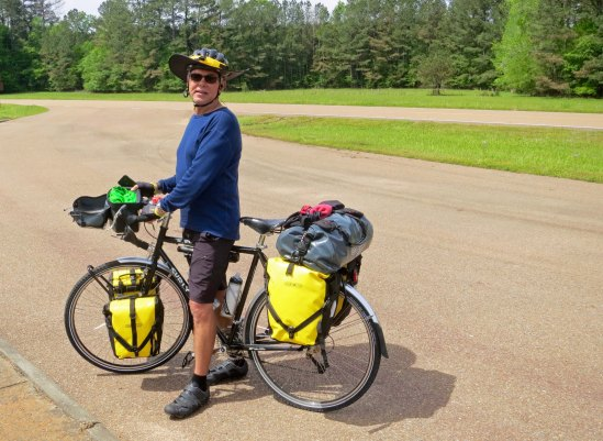 While we were there, a bike tourist who was riding the Trace, Don Glennon, stopped to talk with us.
