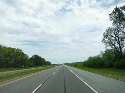 US Route 64. As I have noted earlier, many of the two lane roads I travelled on in 1989 have become four-lane highways, often rerouted.