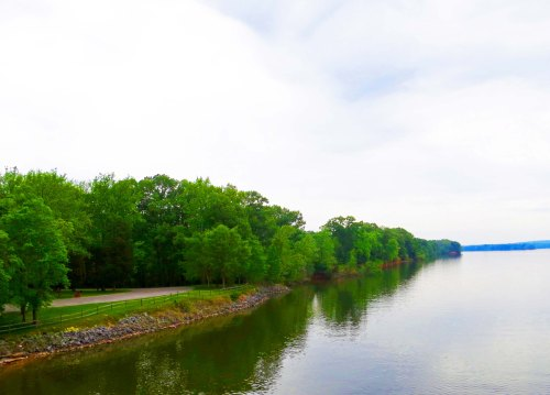 The Tennessee River as see from the Natchez Trace bridge across in in Alabama.