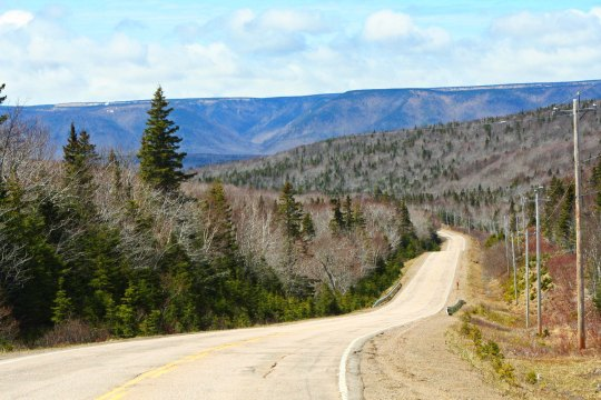 The road leading down to Cape North, which will be the farthest point east I reach on my bike trip.