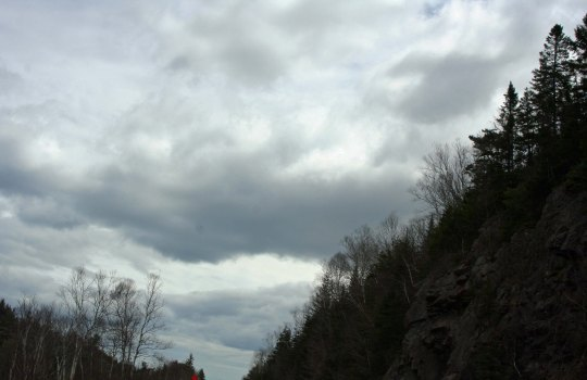 Our day along the Cabot Trail varied between sunshine and threatening skies.