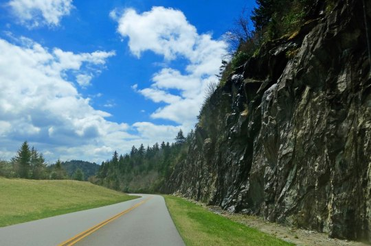 I'll conclude today's section of the Blue Ridge Parkway with this impressive road cut.