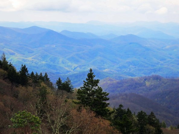 This photo reflects how the Blue Ridge Mountains obtained their name.