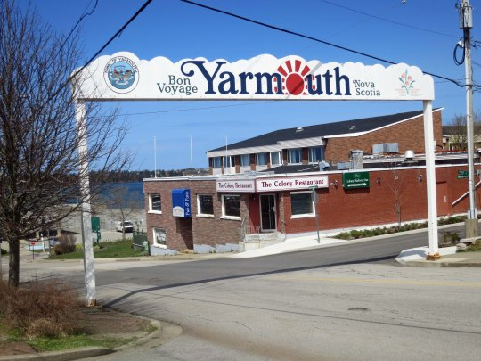 Ferry terminal entry in Yarmouth Nova Scotia.
