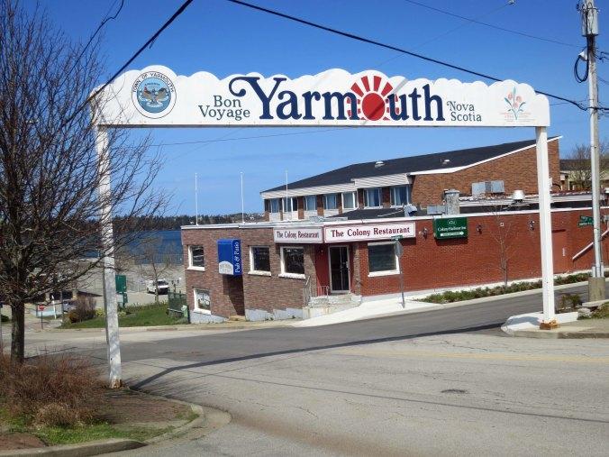 Ferry terminal entry in Yarmouth Nova Scotia.
