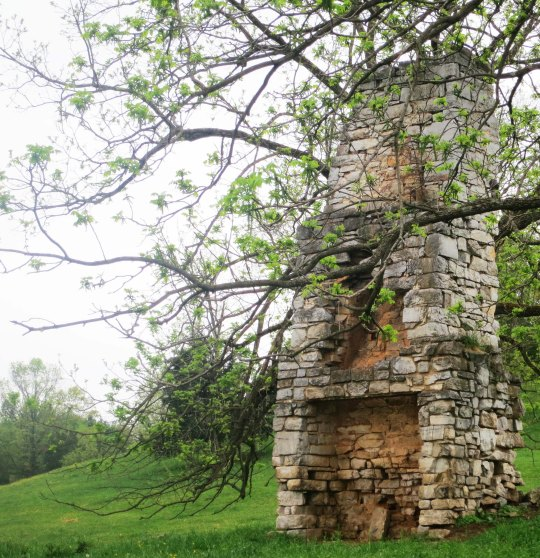 This old fireplace was all that remained of an earlier Shenandoah Valley home.