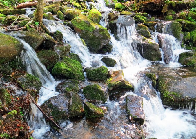 Waterfall in Great Smoky Mountain National Park in North Carolina.
